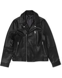 Whistles - Leather Biker Jacket - Lyst