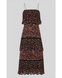 Whistles - Peony Print Tiered Dress - Lyst