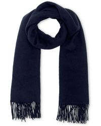 Whistles - Plain Wool Fringed Scarf - Lyst