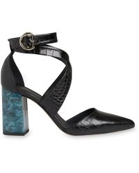 Whistles | Taylor Croc Cross Marble Heel | Lyst