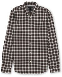 Whistles - Check Cotton Shirt - Lyst