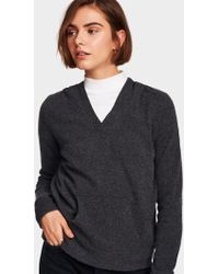 White + Warren - Cashmere Pocket Hoodie - Lyst