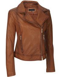 Wilsons Leather - Designer Brand Asymmetrical Zip Genuine Leather Jacket W/ Notch Collar - Lyst