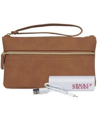 Wilsons Leather - My Back Up Buddy Ii Faux-leather Wristlet - Lyst
