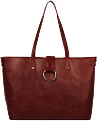 Wilsons Leather - Marc New York Roma Large Open Leather Tote W/ Center Ring Flap - Lyst