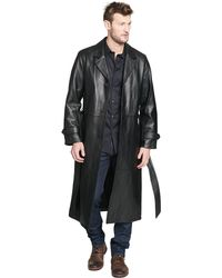Wilsons Leather - Belted Leather Trench Coat - Lyst