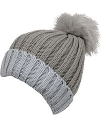 Wilsons Leather - Marc New York Two Tone Pom Beanie - Lyst