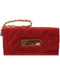 Wilsons Leather - Marc New York Velvet Flapover Wallet W/ Wristlet Strap - Lyst