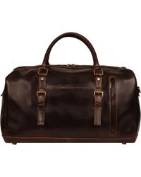 Wilsons Leather - Rugged Dark Leather Duffel - Lyst