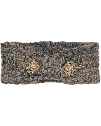 Wilsons Leather - Jeweled Knot Front Headband - Lyst