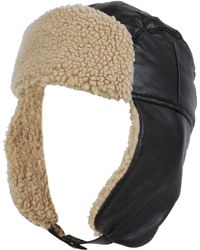 8e9f80b14d8 Wilsons Leather - Genuine Leather Trapper Hat W  Faux-sherpa Trim - Lyst