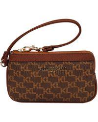 Wilsons Leather - Designer Brand Mono Leather Wristlet - Lyst