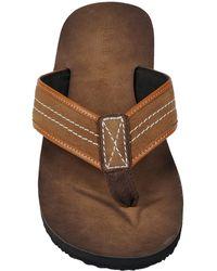 Wilsons Leather - Black Rivet Suede Flip Flop - Lyst