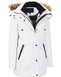 Wilsons Leather - Andrew Marc Coyote Fur Hooded Parka - Lyst