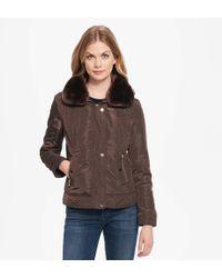 Wilsons Leather - Web Buster Coalition La Satin Bomber W/split Faux-fur Hood - Lyst
