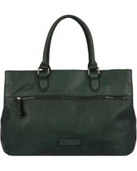 Wilsons Leather - Marc New York Tri Compartment Executive Leather Tote W/ Front Zipper Pocket - Lyst