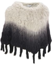 Wilsons Leather - Plus Size Fur Ombre Poncho - Lyst