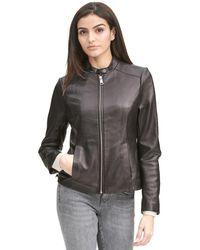 Wilsons Leather - Designer Brand Classic Scuba Leather Jacket - Lyst