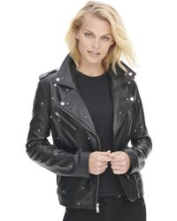 Wilsons Leather - Vintage All Over Star Studded Leather Jacket - Lyst
