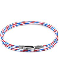 Anchor & Crew - Project-rwb Red White & Blue Liverpool Silver & Rope Bracelet - Lyst