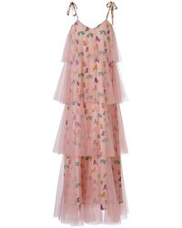 Supersweet x Moumi - Binkie Dress Tigers Pink Tulle - Lyst