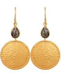 Carousel Jewels | Rutile Quartz & Hammered Disc Earrings | Lyst