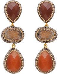 Carousel Jewels - Carnelian And Rough Cut Agate Earrings - Lyst