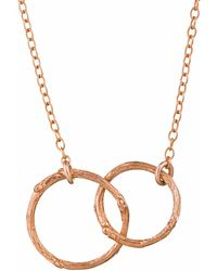 Chupi | Just The Two Of Us Hawthorn Twig Circle Necklace In Rose Gold | Lyst
