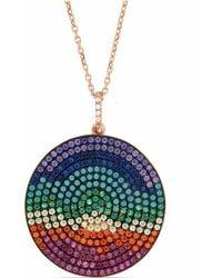 Cosanuova - Disc Rainbow Necklace - Lyst