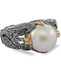 Emma Chapman Jewels - Greta Pearl Emerald Ring - Lyst