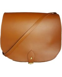 N'damus London - Large Leather Tan Saddle Bag - Lyst