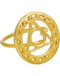 Ottoman Hands - Gold Throat Chakra Ring - Lyst