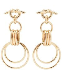 Eshvi - Hula Hoops Pair Earrings - Lyst