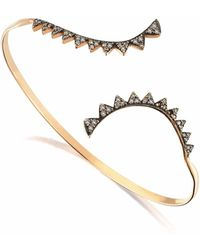 Sadekar Jewellery - Gear Bracelet With Brown Diamond - Lyst