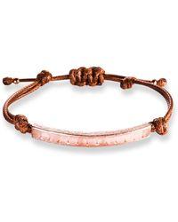 Ona Chan Jewelry - Corded Bracelet With Rose Quartz - Lyst