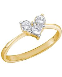 Cosanuova - Princess Solitaire Engagement Anniversary Ring In 14kt White Gold - Lyst
