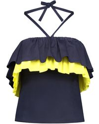 blonde gone rogue - Endless Summer Top In Navy Blue - Lyst