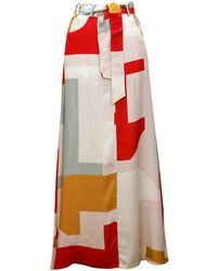 TOMCSANYI - Light Print Maxi Skirt - Lyst