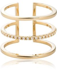 Astrid & Miyu - Triple Bewitched Ring Gold - Lyst