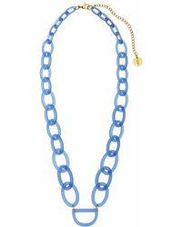 RASSIN & SHEN - Original D Eyewear Necklace N°3 Cornflower Blue Glasses Chain - Lyst