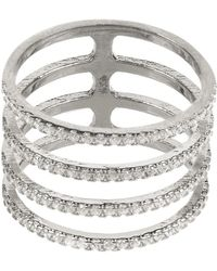 LÁTELITA London - Four Line Geometric Fashion Ring Sterling Silver - Lyst