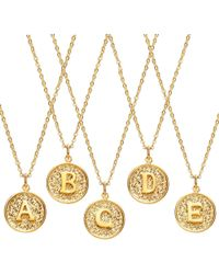 Ottoman Hands - Alphabet Necklaces - Lyst