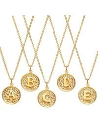 Ottoman Hands - Initial Necklace - Lyst