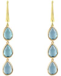 LÁTELITA London - Sorrento Triple Drop Earring Gold Blue Topaz - Lyst