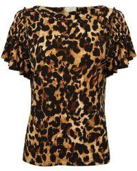 A - M M - E - Ruffle T Leopard - Lyst