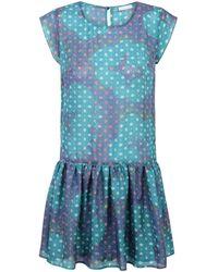 Ju Lovi | Virginia Silk Dress Green | Lyst
