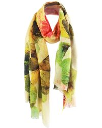 UnPaired - Wish Clover Silk Crepe Long Scarf - Lyst