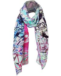 UnPaired - Dancer Smoky Mountain Silk Crepe Long Scarf - Lyst