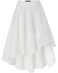 Judy Wu - Hi-low Mini Skirt - Lyst