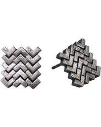 Helen Rankin - Sync Stud Earrings Oxidised - Lyst